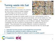 Preview slide on turning plastic waste into methane
