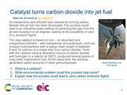 Preview slide on the catalyst that turns carbon dioxide into jet fuel