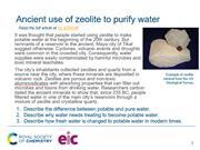 Preview image of starter slide on the ancient use of zeolites